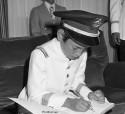 ترؤس اختتام السنة الدراسية بمدرسة تكوين رجال الدرك الملكي بمراكش -1975