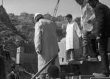 زيارة ورش سد على واد ماسة - 1970