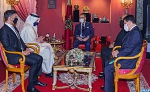 SM el Rey recibe al ministro emiratí de Asuntos Exteriores y Cooperación Internacional