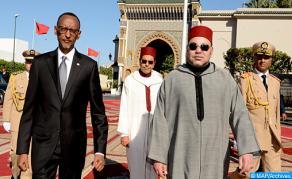Cérémonie d'accueil officielle de SM le Roi à Kigali