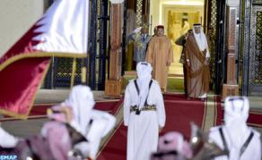Emir of Qatar Offers Official Welcome Ceremony in Honor of HM the King