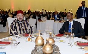 Rwandan Pres. Offers Official Luncheon in Honor of HM the King