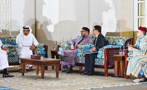 HM the King Holds Meeting with Emir of Qatar