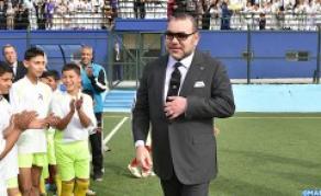 INDH: SM le Roi inaugure un terrain de sport à la préfecture d'arrondissements Ben M'Sik
