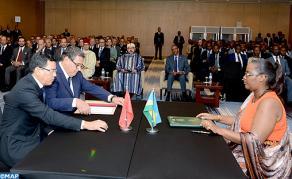 SM le Roi et le Chef de l'Etat rwandais président la cérémonie de lancement d'un programme de partenariat agricole entre le Maroc et le Rwanda