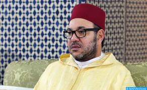 SM el Rey, Amir Al Muminin, cumple la oración del viernes en la mezquita Al Israâ Wal Miaâraj en Casablanca