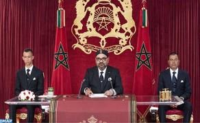 Sa Majesté le Roi adresse un discours à la Nation à l'occasion du 66-ème anniversaire de la Révolution du Roi et du Peuple