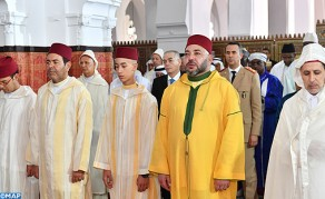 HM the King Performs Eid Al Fitr Prayer at Al-Mohammadi Mosque in Casablanca