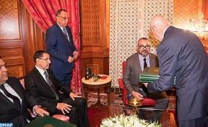 comunicado del Gabinete Real: ''SM el Rey Mohammed VI recibió, lunes en el Palacio Real en Casablanca, al jefe del Gobierno, al ministro del Interior y al primer presidente del Tribunal de Cuentas, en presencia de Fouad Ali El Himma, consejero del Soberano.
