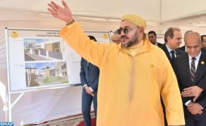 """جلالة الملك يعطي انطلاقة أشغال إنجاز """"مركز صحي للقرب- مؤسسة محمد الخامس للتضامن"""" بمقاطعة بني مكادة بطنجة"""