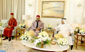 HM the King Pays Courtesy Visit to Saudi King at his Residence in Tangier