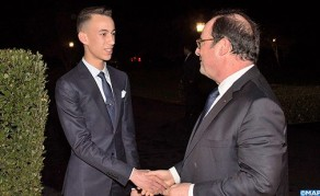 HRH Crown Prince Moulay El Hassan Chairs Dinner Offered by HM the King in Honor of Former French President François Hollande