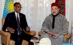 جلالة الملك يجري بكيغالي مباحثات مع الرئيس الرواندي