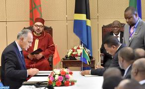 HM the King and Tanzanian Pres. Chair Signing Ceremony of 22 Agreements