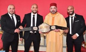 HM the King Receives in Rabat Azaitar Brothers, MMA World Champions