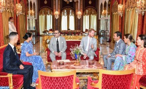 HM the King Offers Tea Ceremony in Honor of Prince Harry of UK and His Spouse