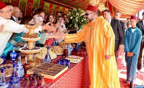 SM le Roi préside à Tanger une réception à l'occasion du 53ème anniversaire du Souverain