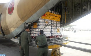 Arrival in Beirut of First Batch of Food Aid Sent Upon High Royal Instructions to Lebanese Armed For
