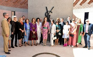 HRH Princess Lalla Salma Chairs Inauguration Ceremony of 'Marrakech Yves Saint Laurent' Museum