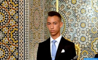HRH Crown Prince Moulay El Hassan Receives Maqdissi Kids Taking Part in 10th Summer Camp of Bait Mal Al Quds Agency