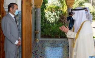 SAR el Príncipe Moulay Rachid recibe al ministro de Asuntos Exteriores de Kuwait, portador de un men