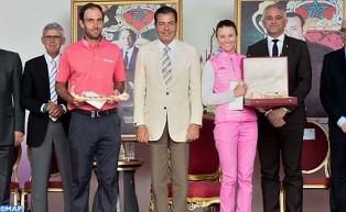 SAR el Príncipe Moulay Rachid preside la ceremonia de entrega de premios del 44 Trofeo Hassan II de golf y de la 23 Copa Lalla Meryem de golf