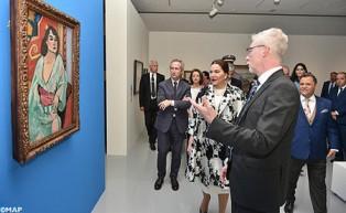 """SAR la Princesa Lalla Hasnaa preside en Rabat la inauguración de la exposición """"El Mediterráneo y el arte moderno"""""""