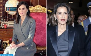 Queen Letizia of Spain and HRH Princess Lalla Meryem Visit Second Chance School in Salé