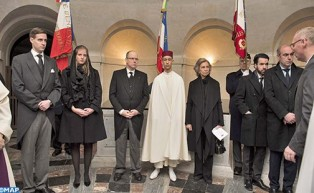 HRH Crown Prince Moulay El Hassan Represents HM the King at Funeral of Count of Paris Henri d'Orleans