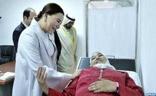 """SAR la Princesa Lalla Hasnaa preside en Temara la ceremonia de inauguración del Centro de Salud Urbano """"Massira II"""" después de su renovación"""
