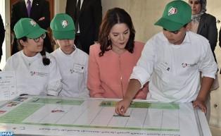 SAR la Princesse Lalla Hasnaa, Présidente de la Fondation Mohammed VI pour la Protection de l'Environnement, préside à Bouknadel la cérémonie d'inauguration du Centre international Hassan II de formation à l'environnement