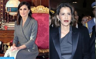 La Reine Dona Letizia d'Espagne et SAR la Princesse Lalla Meryem visitent l'École de la Seconde chance à Salé