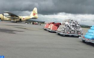Arrivée à Antananarivo de l'aide humanitaire d'urgence octroyée à Madagascar sur très Hautes instructions de S.M. le Roi
