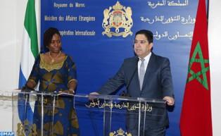 المغرب وسيراليون ينوهان بالمستوى الرفيع للتنسيق الثنائي على المستوى القاري