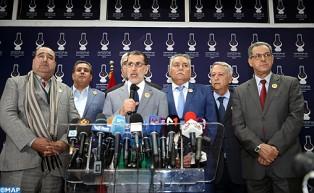 السيد العثماني : الاغلبية الحكومية ستضم أحزاب العدالة والتنمية والتجمع الوطني للأحرار والاتحاد الدستوري والحركة الشعبية والاتحاد الاشتراكي للقوات الشعبية والتقدم والاشتراكية