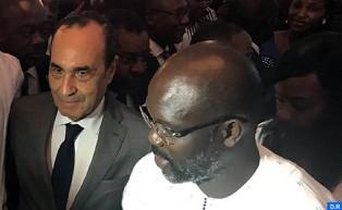 السيد المالكي يمثل جلالة الملك في حفل تنصيب الرئيس الليبيري الجديد جورج ويا