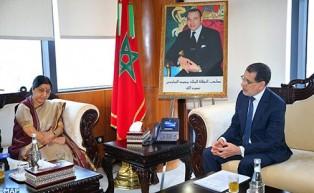 وزيرة الشؤون الخارجية الهندية تؤكد على الدور الريادي للمغرب في القارة الإفريقية