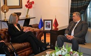 M. Laftit s'entretient à Rabat avec la Haute représentante de l'UE pour les Affaires étrangères et la politique de sécurité