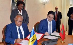 المغرب وبربادوس يتفقان على تنسيق مبادراتهما من أجل تعزيز التعاون بين إفريقيا ودول الكاريبي (بيان مشترك)