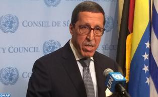 Omar Hilale: Le Maroc prend note de la résolution 2285 du Conseil de sécurité