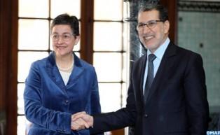السيد العثماني يجري مباحثات مع وزيرة الشؤون الخارجية والاتحاد الأوروبي والتعاون الإسبانية
