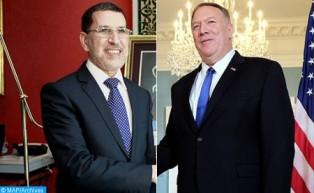 El secretario de Estado estadounidense, Michael Pompeo, de  visita oficial en  Marruecos