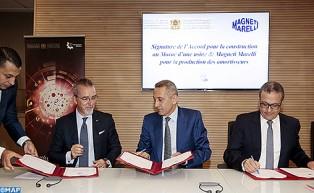 Signature d'un accord avec le groupe Magneti Marelli pour la production de composants automobiles