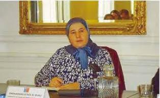 سفيرة المملكة لدى الشيلي، السيدة كنزة الغالي
