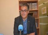 Vernissage de l'exposition des œuvres de l'artiste peintre Mohamed Mekouar