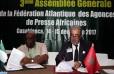 Firma de acuerdos de cooperación entre la MAP y las agencias de noticias nigeriana y namibiana
