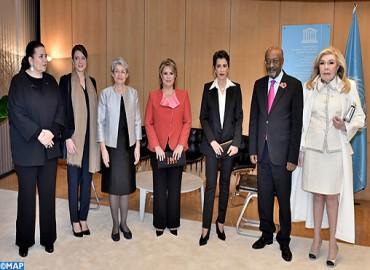HRH Princess Lalla Meryem Takes Part in Homage Ceremony for Irina Bokova