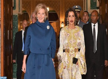HRH Princess Lalla Meryem Chairs Dinner Offered by HM the king in Honor of Princess Astrid of Belgium