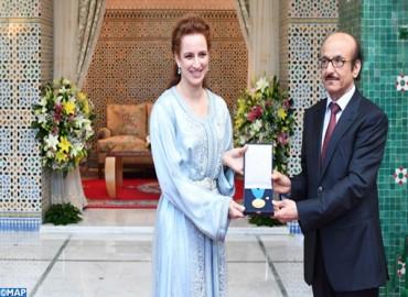 SAR la Princesa Lalla Salma recibe en Rabat la medalla de oro de la OMS