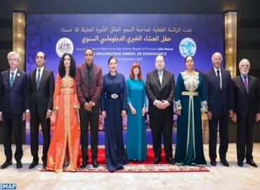 SAR la Princesa Lalla Hasnaa preside en Rabat la cena de gala diplomática anual de beneficencia